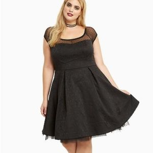 Disney Torrid Prom cage lace swing dress Party
